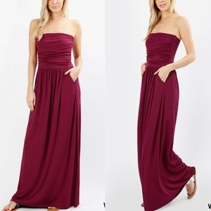 HAILEY Maxi Dress  - WINE